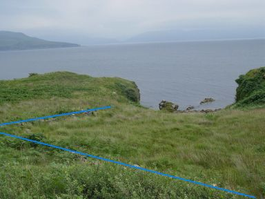 Dun Ringill with fence outline